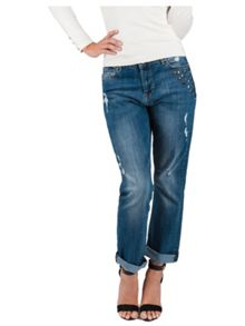 Jane Norman Mid Wash Boyfriend Jean