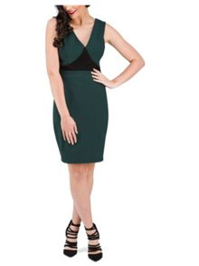Jane Norman Green V-Back Formal Dress