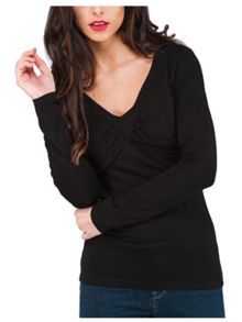Jane Norman Ruched Bust Long Sleeve Jersey