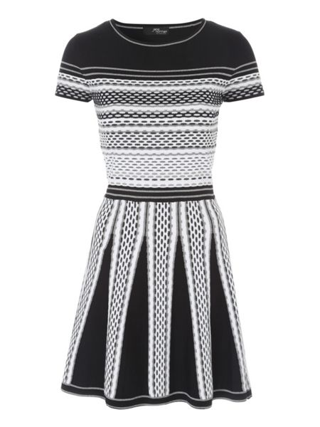 Jane Norman Grey Skater Jumper Dress