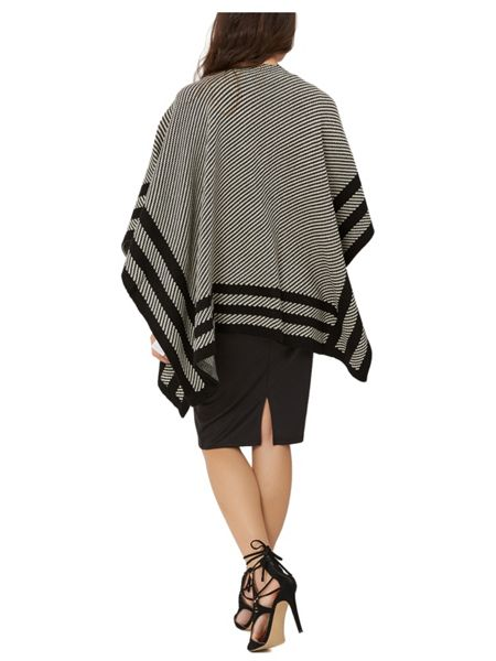 Jane Norman Black and White Cape Cardi