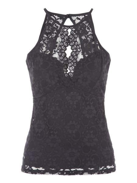 Jane Norman Lace Racer Top