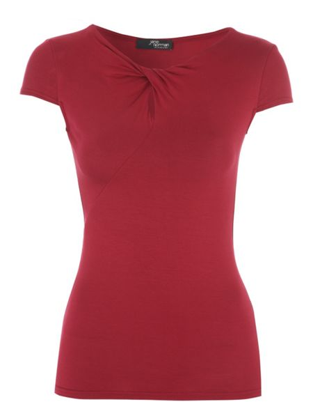 Jane Norman Red Knot Front Top
