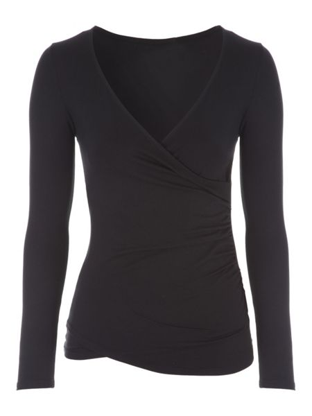 Jane Norman Long Sleeve Wrap Top
