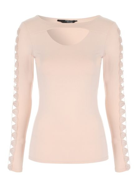 Jane Norman Cut Out Long Sleeved Top