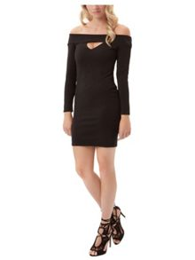Jane Norman Peek-a-Boo Bardot Dress