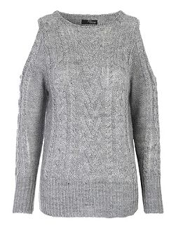 Cold Shoulder Cable Jumper