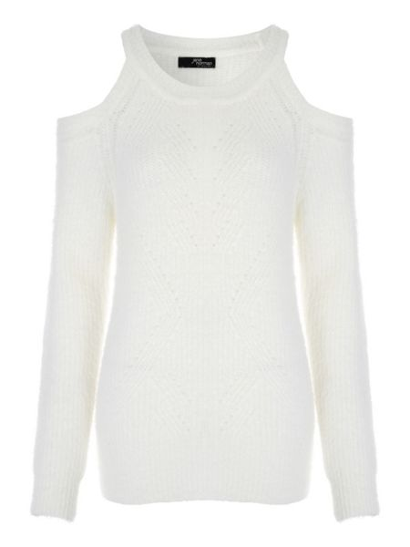 Jane Norman Fluffy Cold Shoulder Jumper