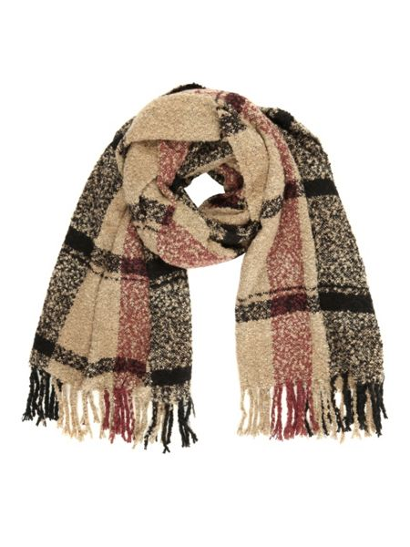 Jane Norman Camel Check Scarf