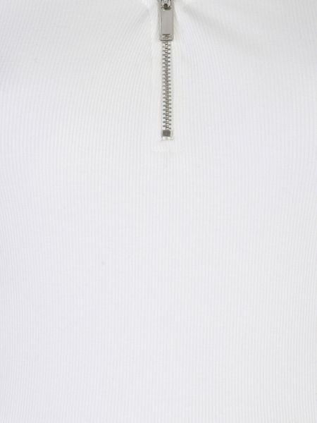 Jane Norman Zip up Ribbed Top