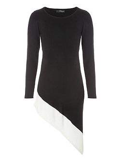 Asymmetric Jumper Dress
