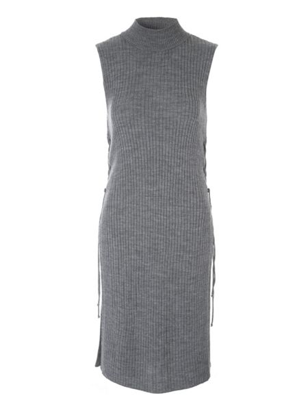 Jane Norman Grey Ribbed Tunic Jumper