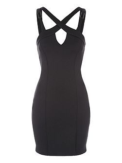 Cage Bodycon Midi Dress