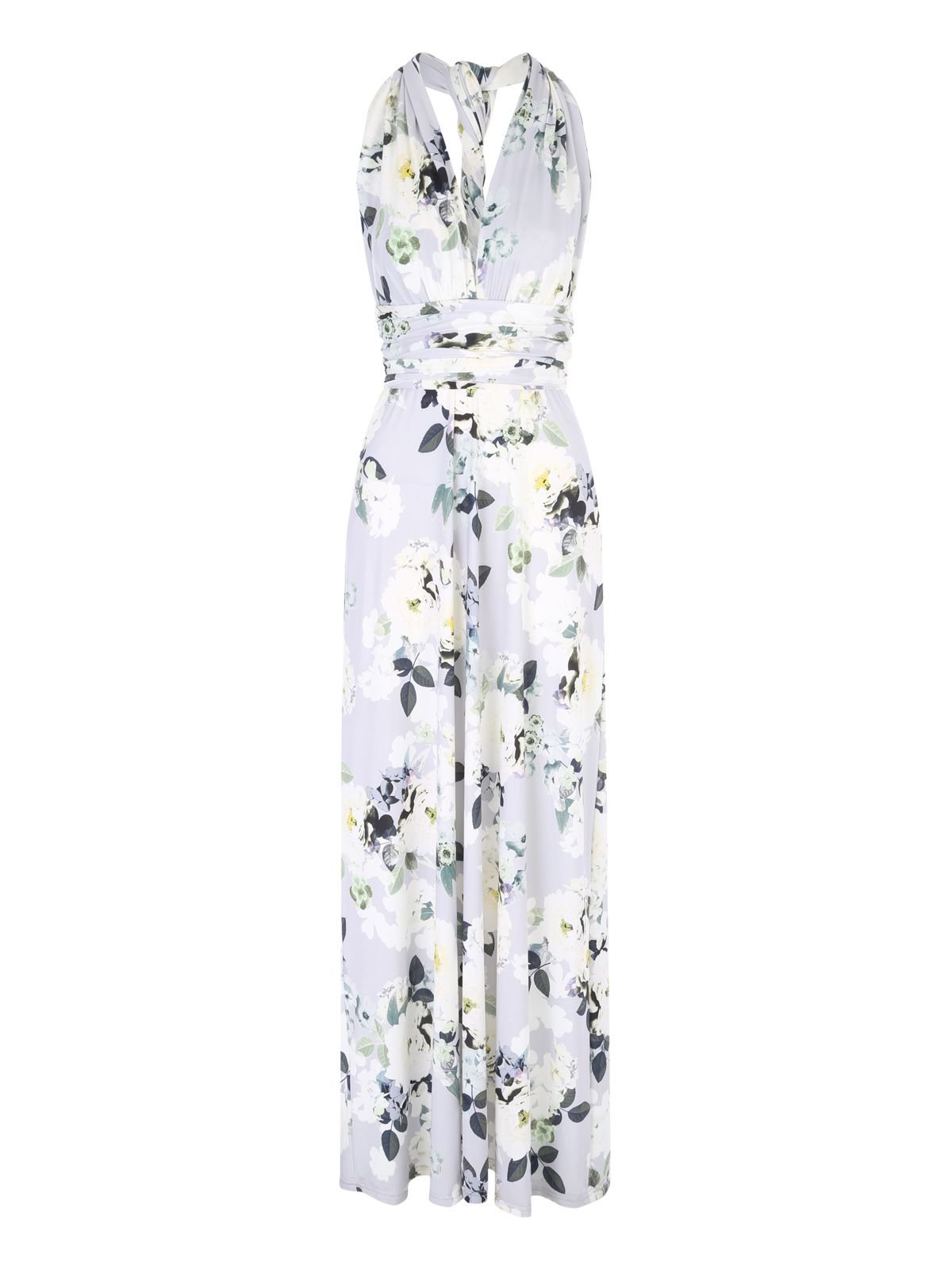 Jane Norman Floral Multiway Maxi Dress, Multi-Coloured