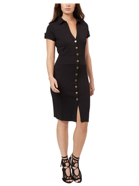 Jane Norman Black Button Up Shirt Dress