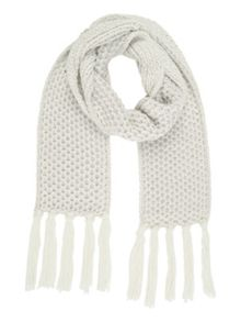 Jane Norman White Chunky Knit Scarf