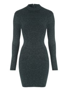 Jane Norman Teal Rib Jumper Dress