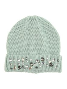 Jane Norman Spearmint Knitted Jewel Hat