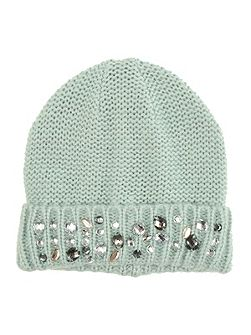 Spearmint Knitted Jewel Hat