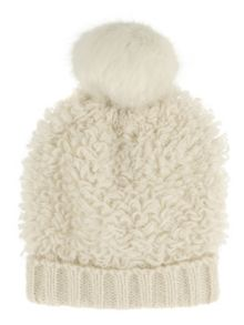 Jane Norman White Bobble Hat