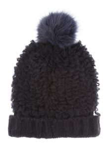 Jane Norman Blue Bobble Hat