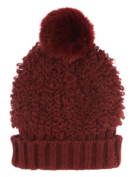 Jane Norman Cherry Red Bobble Hat