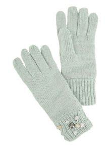 Jane Norman Spearmint Knitted Jewel Gloves