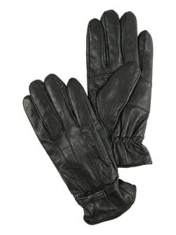 Black Bow Leather Gloves