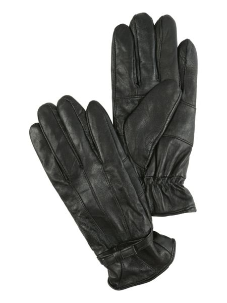 Jane Norman Black Bow Leather Gloves