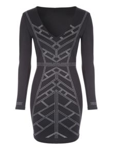 Jane Norman Geometric Dress