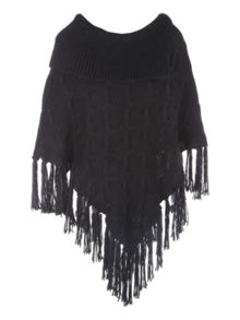 Jane Norman Cable Knit Poncho Jumper