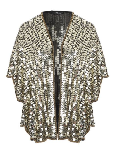 Jane Norman Gold Sequin Shawl