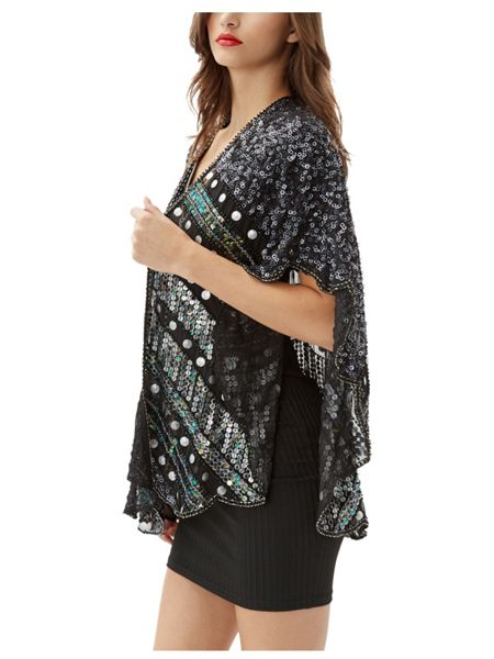 Jane Norman Embellished Sequin Shawl