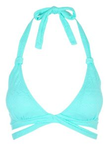 Jane Norman Spearmint Cross Over Bikini Top