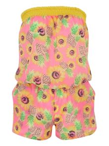 Jane Norman Sunflower Print Bandeau Playsuit