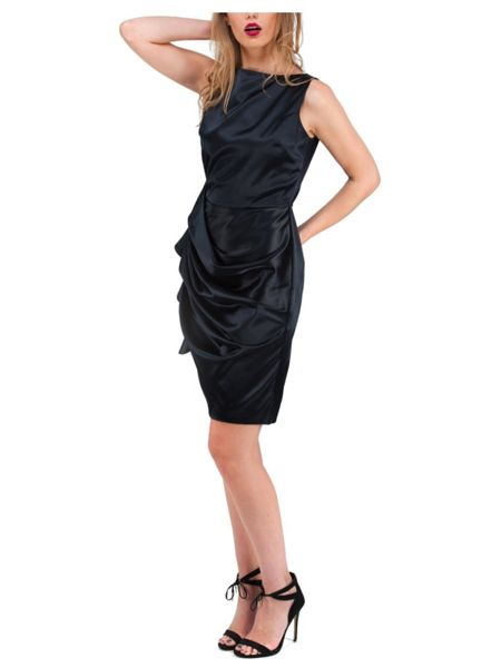 Jane Norman Navy Short Satin Dress