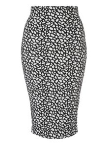 Jane Norman Monochrome Pencil Skirt