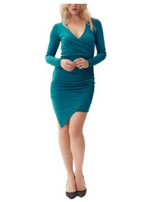 Jane Norman Green Wrap Dress