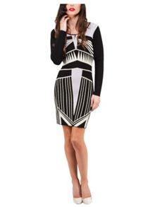 Jane Norman Geo Jacquard Jumper Dress