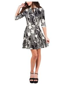 Jane Norman Textured Floral Jersey Dress