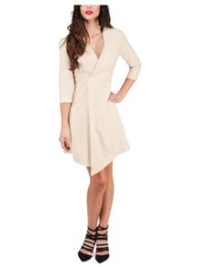 Jane Norman Long Sleeve Asymmetric Hem Dress