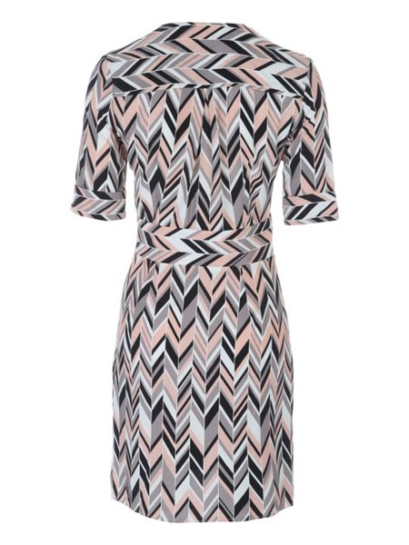Jane Norman Geo Chevron Wrap Shirt Dress