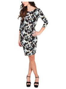 Jane Norman Brush Stroke Jersey Dress