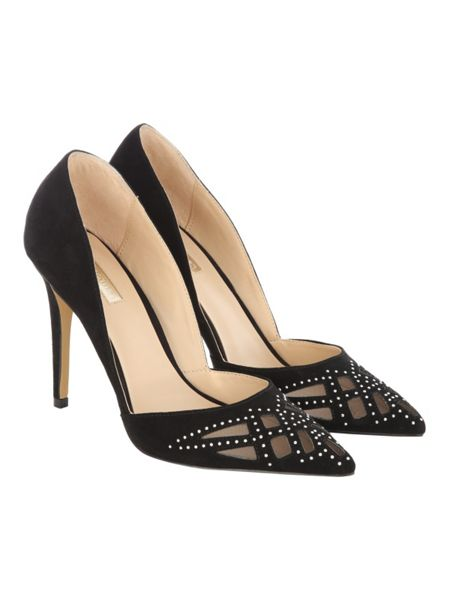 Jane Norman Black Studded Pointed Heel
