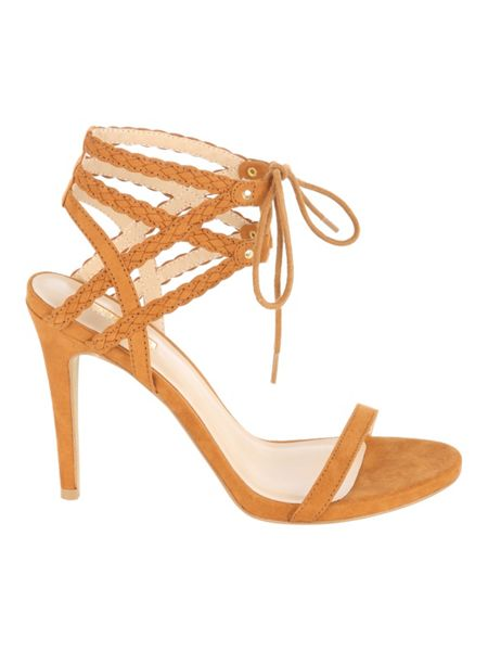 Jane Norman Double Plaited Ankle Strap Heel