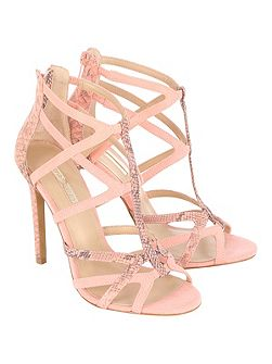 Coloured Cage Heels