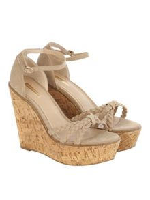 Natural Wedge Cork Heels
