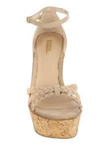 Jane Norman Natural Wedge Cork Heels