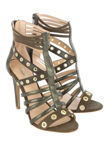 Jane Norman Eyelets Cage Heel