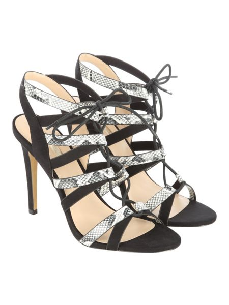 Jane Norman Snake Skin Lace Up Heels